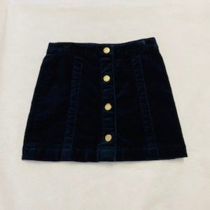 Brooks Brothers Velvet Skirt size 4T